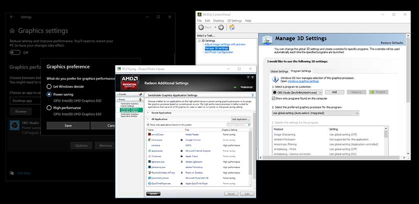 switch from intel graphics to nvidia or amd in your laptop windows 10